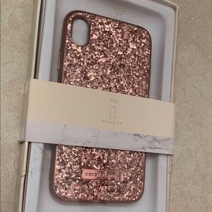 iPhone XR Rose Gold Glitter Case